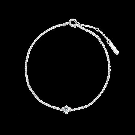 White Solitary bracelet