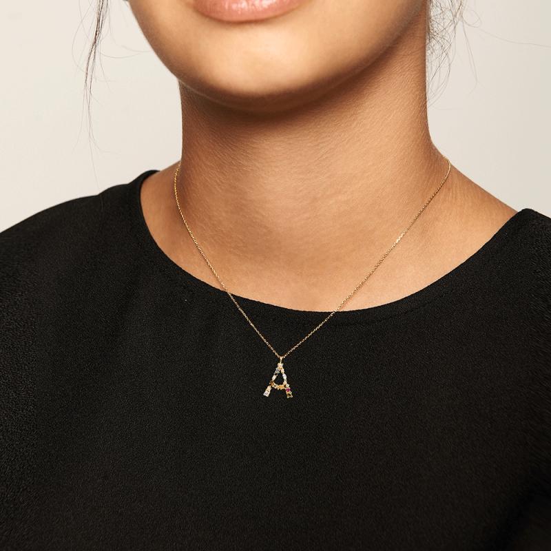 Letter A necklace