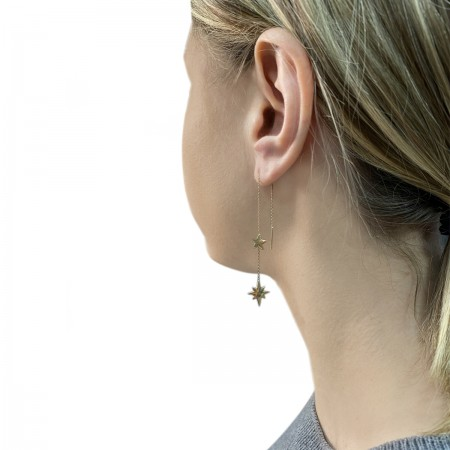 Earrings Flowing Star