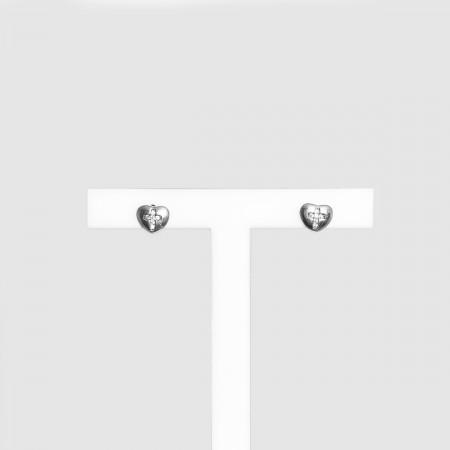 Earrings Heart Cross