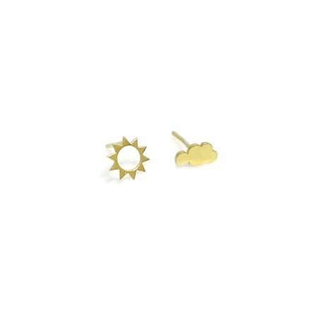 Earrings Sun & Cloud