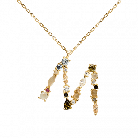 Letter M necklace
