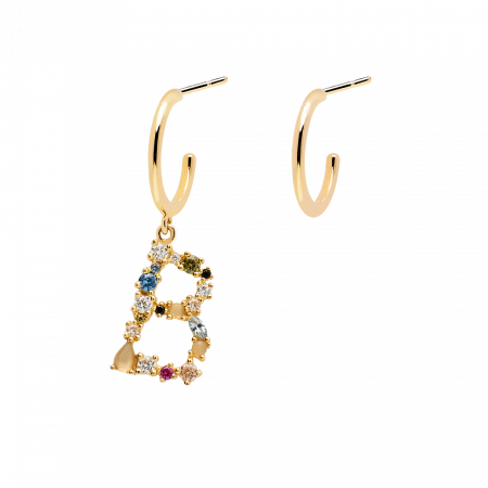 Letter B earrings