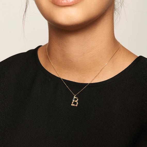 Letter B necklace