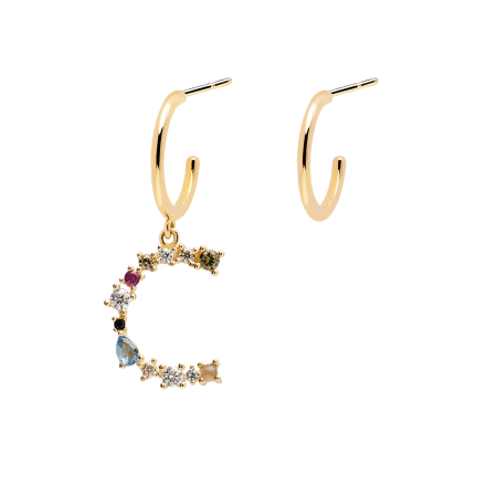 Letter C earrings