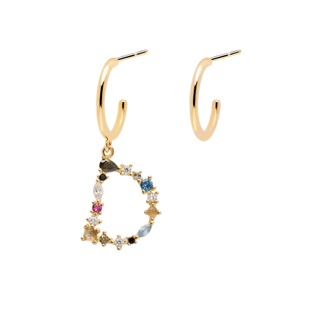 Letter D earrings