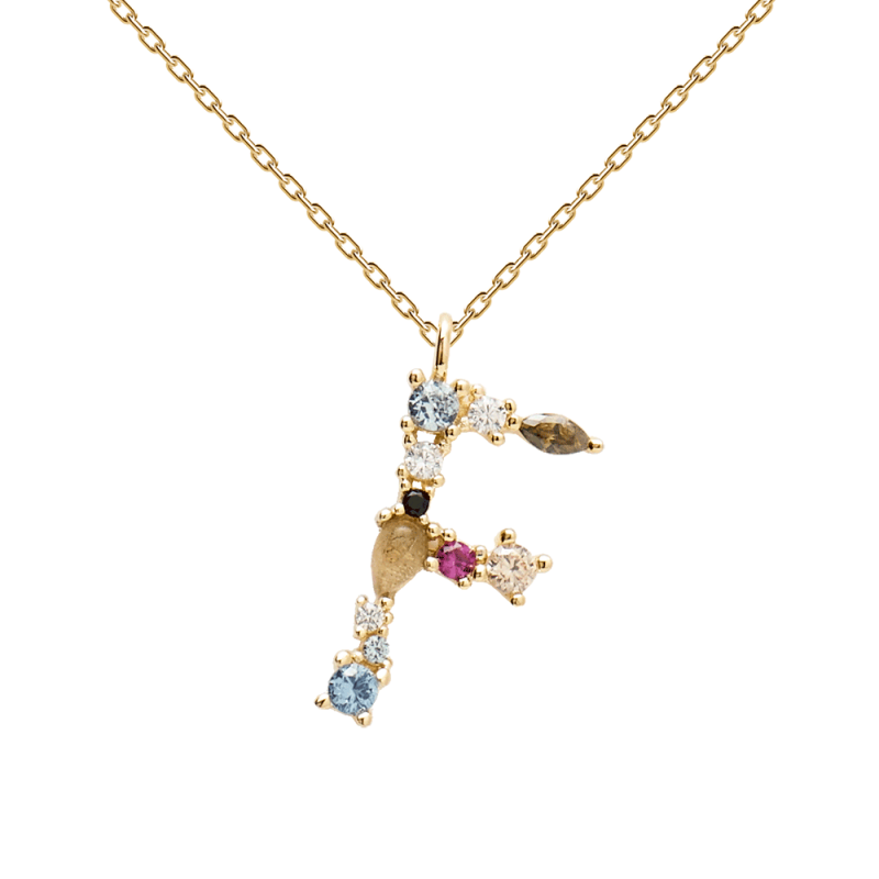Letter F necklace