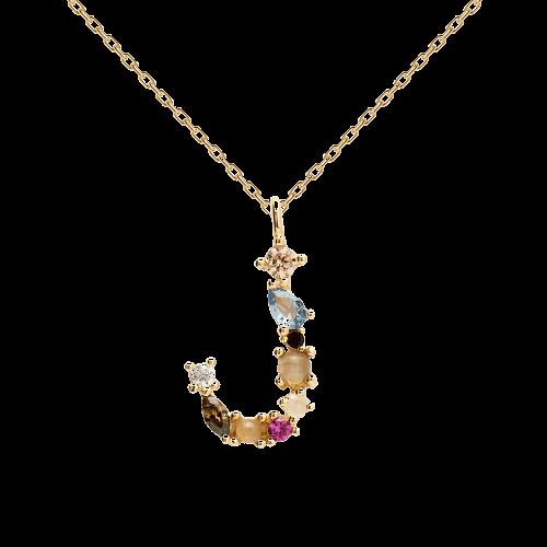 Letter J necklace
