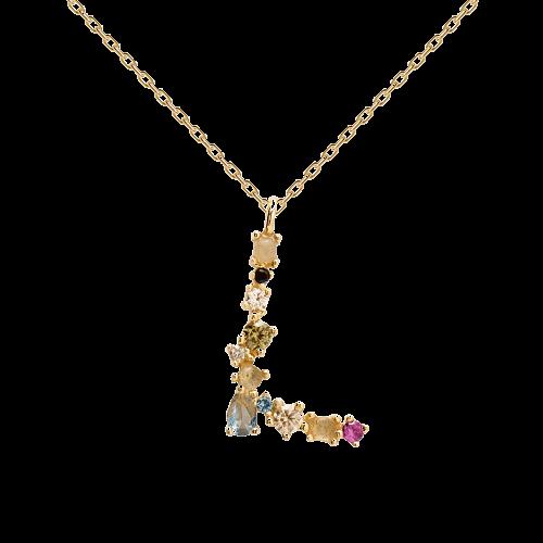 Letter L necklace