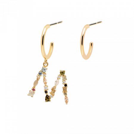 Letter M earrings