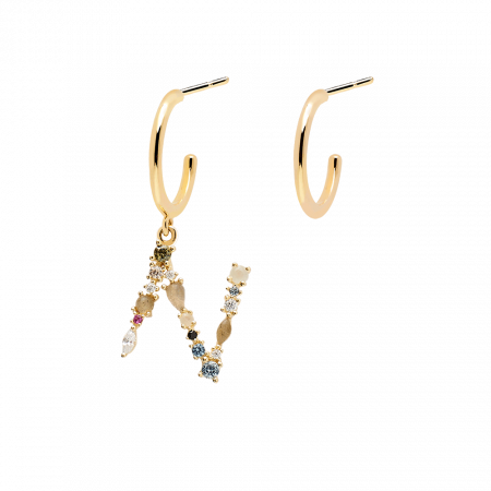 Letter N earrings