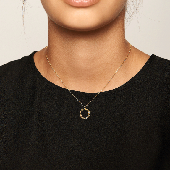 Letter O necklace