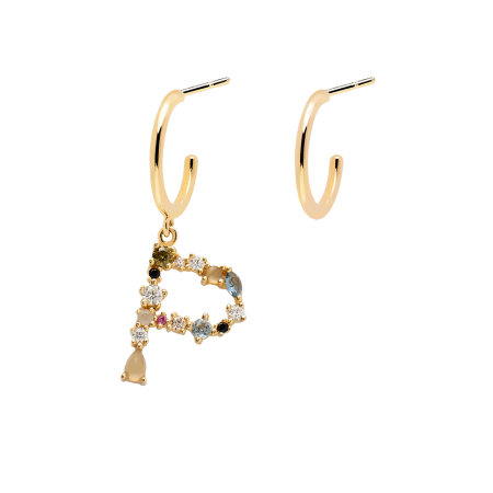 Letter P earrings