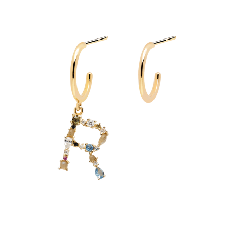 Letter R earrings