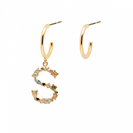 Letter S earrings