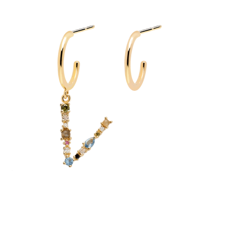 Letter V earrings