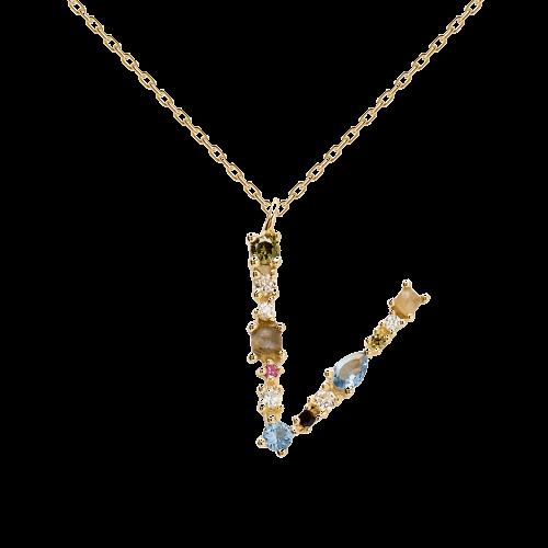 Letter V necklace
