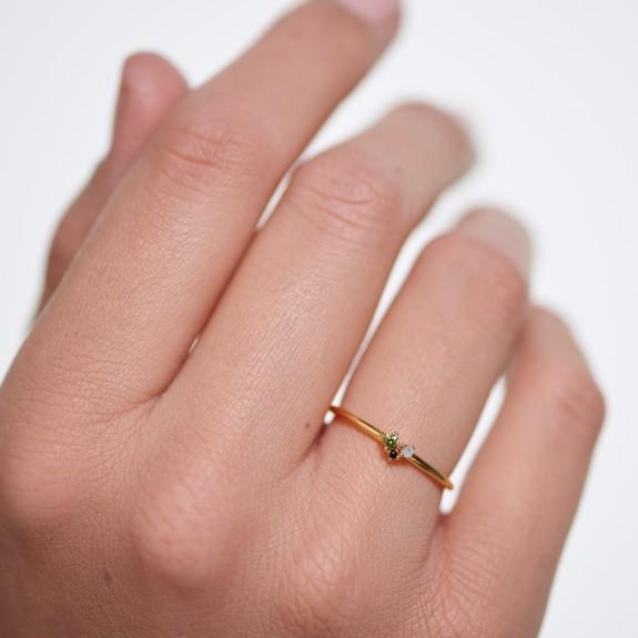 Lime Blush ring