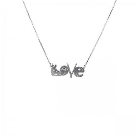 Necklace Ski Love