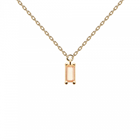Peach Asana necklace