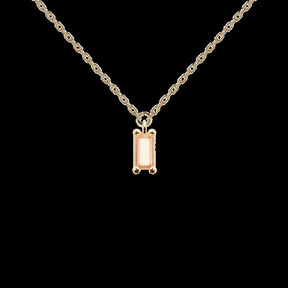 Peach Asana necklace