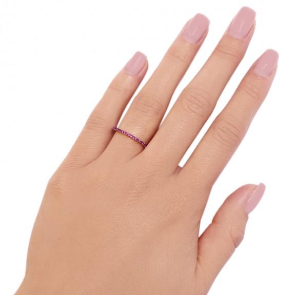 Ring Kubik Ruby