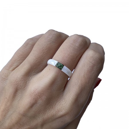 Ring Ceramics Green
