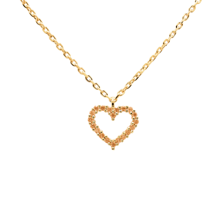 Champagne Heart necklace