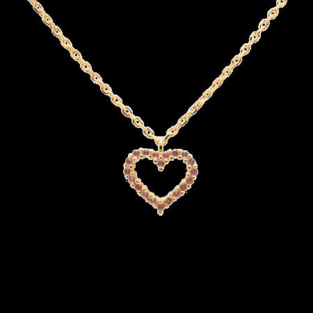 Lavander Heart necklace