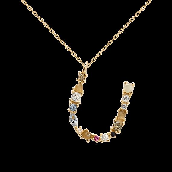 Letter U necklace