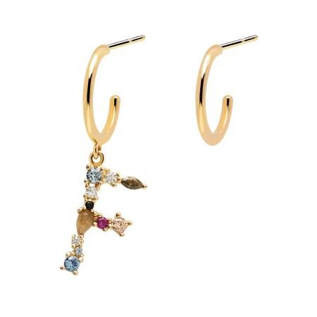Letter F earrings