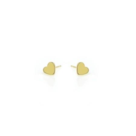 Earrings Yellow Heart