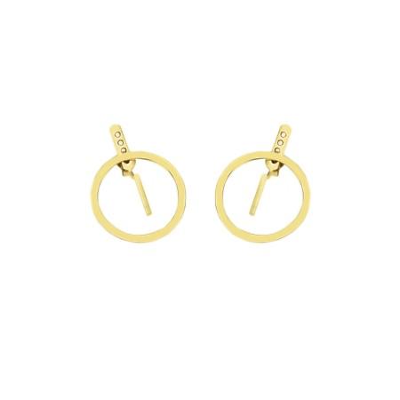 Earrings Round&Flat