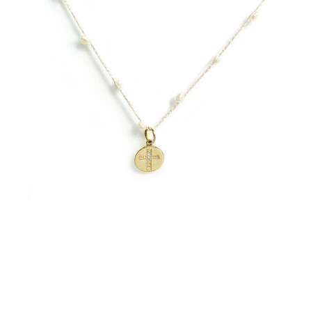 Necklace Pearl Cross