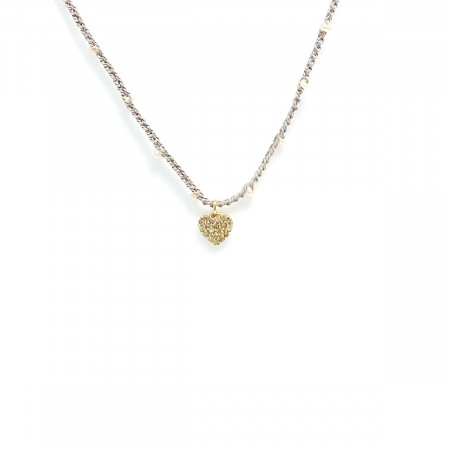 Necklace Pearl Heart